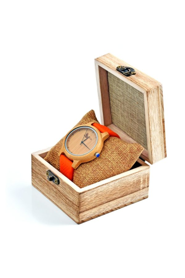 Tocco - Space Orange unisex fa óra szemből dobozban