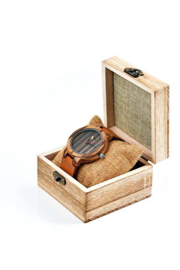 Tocco - Stripe férfi fa óra dobozban